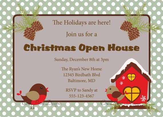 Items Similar To Holiday Open House Invitation Christmas
