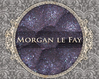 MORGAN LE FAY Sparkle Eyeshadow: Samples or Jars, Dark Violet w/Blue Sparkle, Loose Powder Eyeshadow, Vegan Cosmetics, Ships Out in 5-9 Days