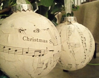 SALE, Christmas Ornament, Holiday Gift Guide, Christmas, Holidays, Gift for Music Lover, Glitter Musical note ball, ornaments