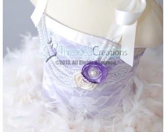 Lavender Bliss Vintage Feather Dress