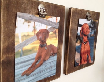 Wood Picture Frame with Clip