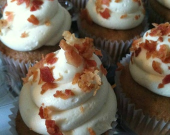 Maple Bacon Cupcakes-Made to Order