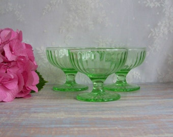 Green sherbet cups- Free Shipping