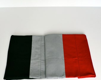 Red and Black Baby Blanket, Modern Baby Bedding, Baby Quilt, Gender Neutral, Red, Black, Gray