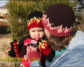 Flame Beanies and Mittens - CROCHET PATTERN