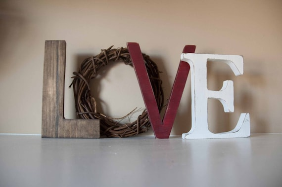 Love Letters, Valentine Decor, Mantle Decor, Gift, Love Sign