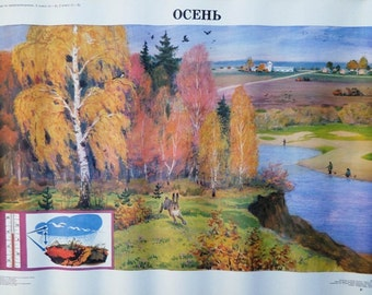 Vintage School Poster Seasons - Autumn