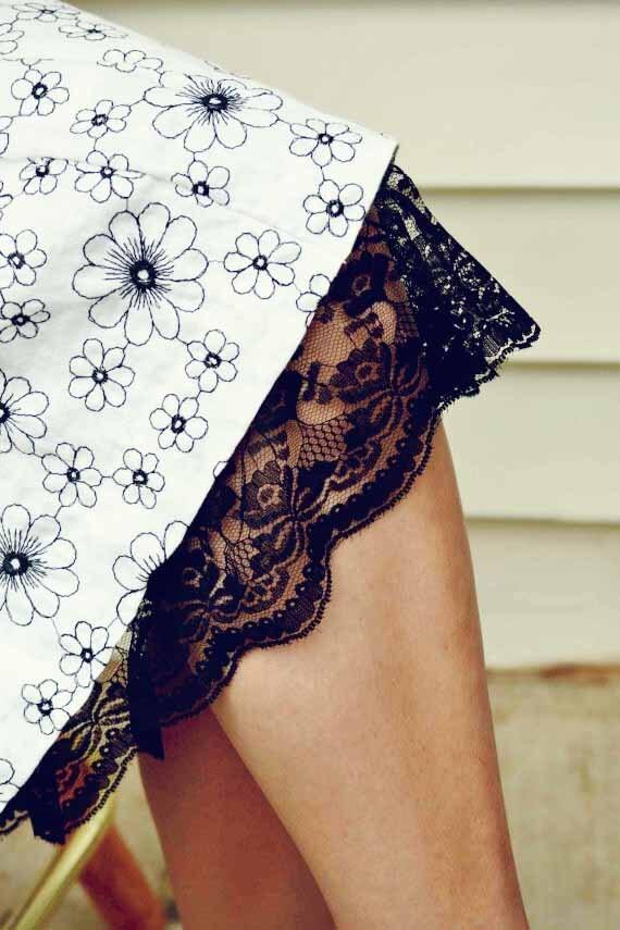 Black Lace Trimmed Slip Extender