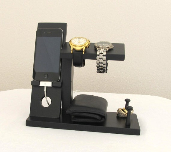 Wooden Watch And Ring Stand