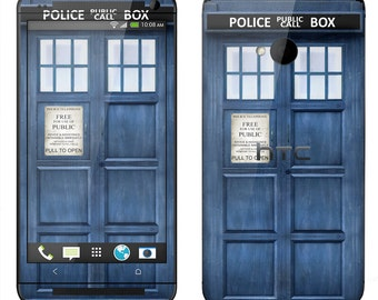 HTC One M7 M8 Case Decal Skin Cover - Police Box