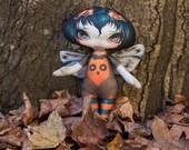 """Jasmine Becket Griffith """" Owlyn """"  cloth doll"""