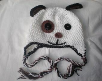 Crochet puppy dog hat crochet toddler hat toddler hats for boys boys hat girls hat toddler winter hat, animal hat, fleece lined hat