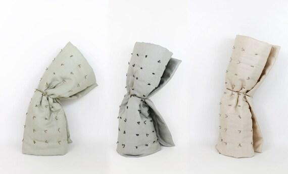 Hand-knotted Linen Mattress Pad / Play Mat / Nap Mat  (crib / toddler)