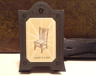Super Sale! Portrait of a Chair limited edition letterpress print with paper frame