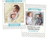 Birth announcement template -  Baby Patrick  - E898