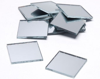 1 Inch Square Mirrors - Set of 15