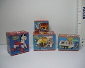 1:12th Scale Dollhouse Vintage Fisher Price Toy Prop Boxes - 4 Pieces