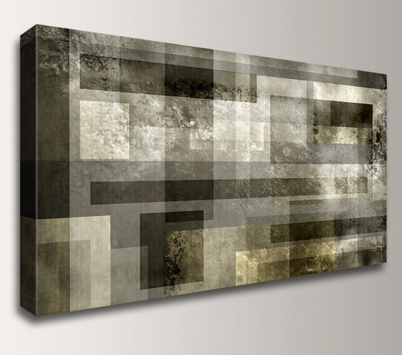 canvas print metallic grey and bronze large abstract