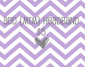 Add MTM Headband for LavenderLadybugsNY