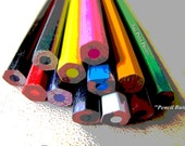 Color pencil art photography, rainbow colored, Still Life Photography, Color Pencil Photos, Decor for Kids, Nursery Decor, Playroom Wall Art