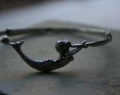 Sterling silver mermaid bangle
