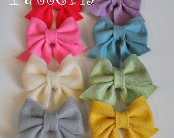 Felt Hair Bow Pattern Tutorial with Printable Templates 3 Bow Styles Included Hair clip, Baby Bow Tie, Baby Bow Headband