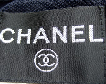 CHANEL Sexy Midnight Blue Clingy Knit Vintage Dress Size 38 (Genuine)