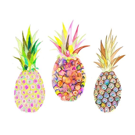 Pineapple Watercolor P...