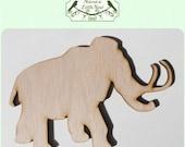 Mammoth / Elephant Wood Cut Out - Laser Cut