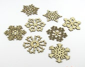 2012 Collection 1 - Wooden Laser-Cut Holiday Snowflake Ornaments - 3 Inch Diameter - Set of 8
