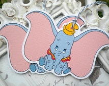 Baby Dumbo Tags - Set of 6 - Baby Shower, Favors, Birthday