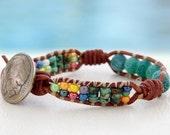 Arizona... leather wrap bracelet... Original OceanBead Style.