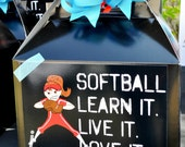 Softball Favor Labels ONLY