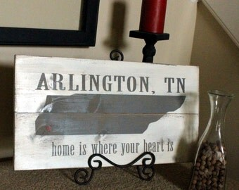 Personalized Plank Boards (home is where your heart is)