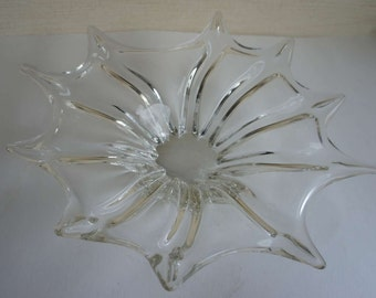 Vintage Murano Glass Bowl Handblown Large