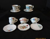 Vintage Miniature Tea Cups and Saucers - Made in Japan