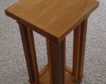 Handmade Mission Style Oak Plant Stand