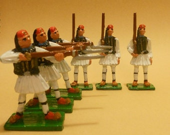 Greek Evzones Toy Soldiers 54mm