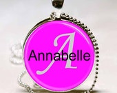 Annabelle Name Monogram Handcrafted  Necklace Pendant (NPD0222)