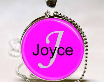 Joyce Name Pendant Name Monogram Handcrafted  Necklace Pendant (NPD3001)