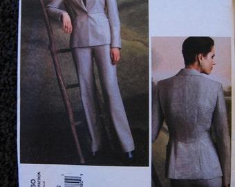 Vogue Misses Womens Paris Original Montana Blazer Jacket Pants Suit Pattern 2760  Size 8 10 12 UC FF Uncut