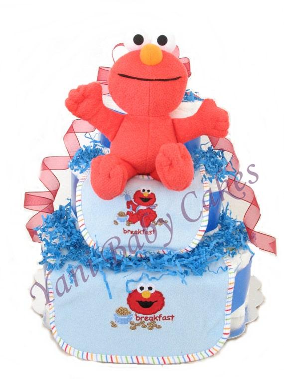 baby shower centerpiece baby diaper cake sesame street elmo diaper