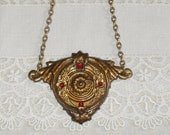 Antique Drawer Pull As Necklace  Upcycled