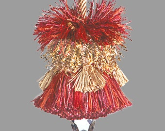 Home Decor Tassel - Small Copper Orange Gold Tassel - Key Tassel - Lamp Tassel - Pillow Tassel - Decorative Tassel - Curtain Tassel
