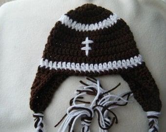 Football Helmet Baby Beanie - MADE TO ORDER - 100% Handmade