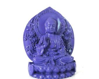buddha statue, violet, buddha figurines, sitting buddha, purple home decor, asian, zen