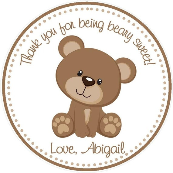 Teddy Bear Party Favor Tags By Sweetdesignsbyregan On Etsy