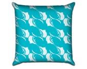 "Swordfish - Original Pattern Sofa Throw Pillow Envelope Cover for 18"" inserts"