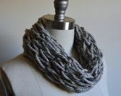 SALE Chunky Knit Infinity Scarf- Gray