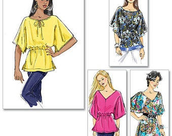 UNCUT Butterick B5496 Misses Tunic with komono sleeves XS-Sm-Med